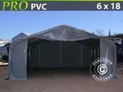 6x18x3, 7 m Grey PVC Storage